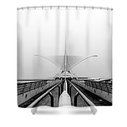 Stretching View For Stretching Wings Shower Curtain