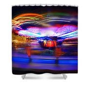Strikeout Shower Curtain