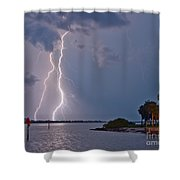 Strikes Shower Curtain