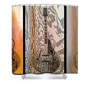Striking A Chord Shower Curtain