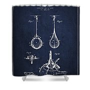 Striking Bag Patent Drawing From1891 Shower Curtain by Aged Pixel