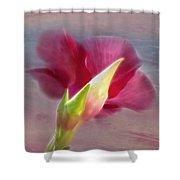 Striking Hibiscus Flower Shower Curtain