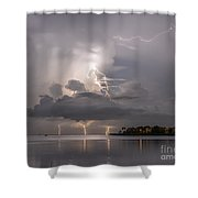 Striking Ozona Shower Curtain