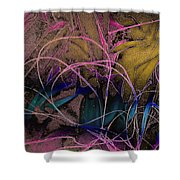 String And Fabric Shower Curtain