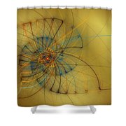 String Shell Shower Curtain