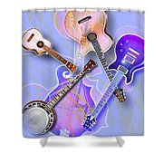 Stringed Instruments Shower Curtain by Design Pics Eye Traveller