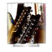 Strings Galore - Guitar Shower Curtain
