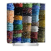 Strings Of Color Shower Curtain