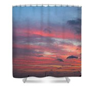 Strings Of Fire In The Sky. Shower Curtain