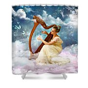 Strings Of My Heart Shower Curtain