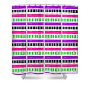 Stripe And Check Shower Curtain by Louisa Hereford