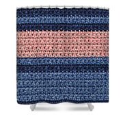 Striped Crochet Cloth Shower Curtain
