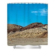 Striped Mountain Shower Curtain