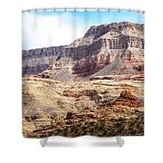 Striped Mountains Shower Curtain