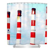 Striped Stacks Shower Curtain