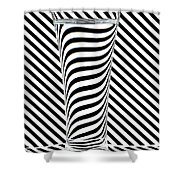 Striped Water Shower Curtain