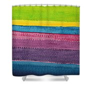 Stripes Original Painting Shower Curtain