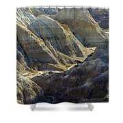 Stripped Mounds Shower Curtain