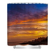Strokes Of Sunset I Shower Curtain