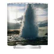 Strokkur Geyser - Iceland Shower Curtain