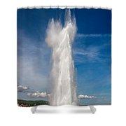 Strokkur/ Geysir In Iceland Shower Curtain
