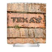 Stroll Down Texas Lane Shower Curtain