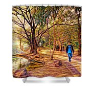 Stroll In The Park. Shower Curtain