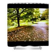 Stroll On An Autumn Lane Shower Curtain