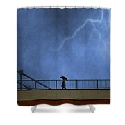 Strolling In The Rain Shower Curtain
