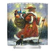 Strolling Santa II Shower Curtain