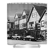 Strolling The Streets Of Bar Harbor Shower Curtain
