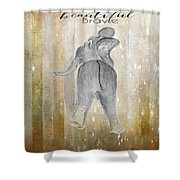 Strong Beautiful Brave Shower Curtain