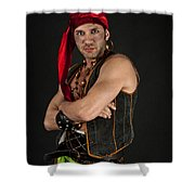 Strong Male Pirate 1 Shower Curtain
