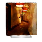 Strong Wine Wavy Walls Shower Curtain