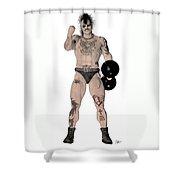 Strongest Man Fighter  Shower Curtain
