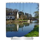 Stroudwater Canal Stonehouse Shower Curtain