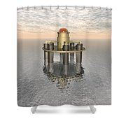 Structure At Sea Shower Curtain
