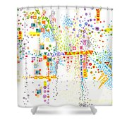 Structure Evolution Shower Curtain