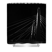 Structure In The Shadows Shower Curtain by CJ Schmit