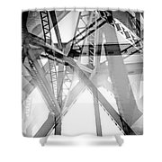 Structured Tones Shower Curtain