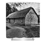 Stryd Lydan Barn Mono Shower Curtain