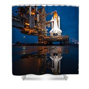 Sts 135 Atlantis Prelaunch Shower Curtain