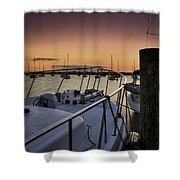 Stuart Marina At Sunset Shower Curtain