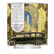 Studebaker Big Six - Vintage Car Poster Shower Curtain