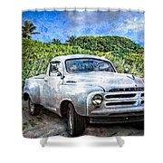 Studebaker Goes To The Beach Shower Curtain