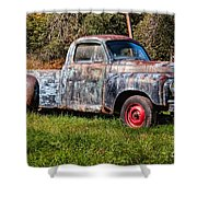 Studebaker Transtar Truck In Wv  Shower Curtain