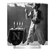 Student Works As Fire-eater Shower Curtain