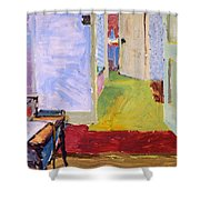 Studio Space, Ivor Street, Nw1 Oil On Canvas Shower Curtain