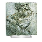 Study For An Apostle From The Last Supper Shower Curtain