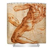Study For An Ignudo Shower Curtain